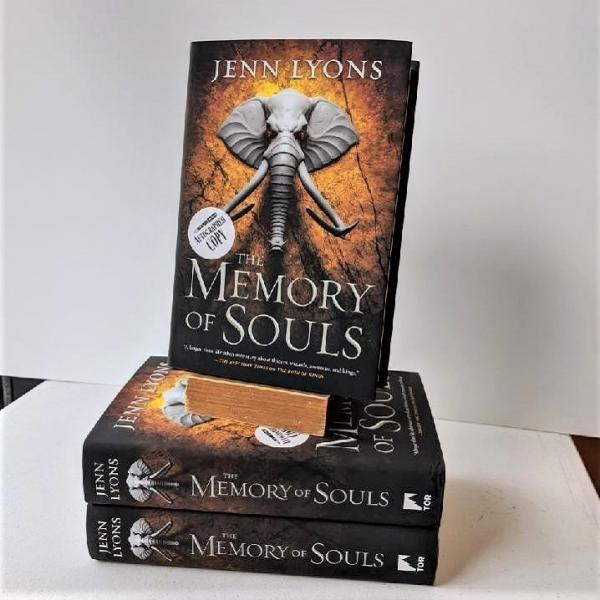 Signed hardcover copy of Memory of Souls by Jenn Lyons