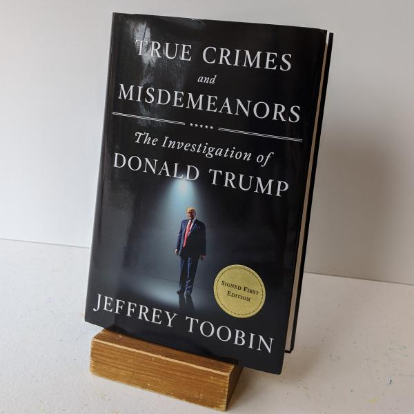 Signed first edition hardcover of True Crimes and Misdemeanors